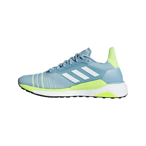 Women's Solar Glide Running Shoe - Ash Grey / Cloud White / Hi-Res Yellow