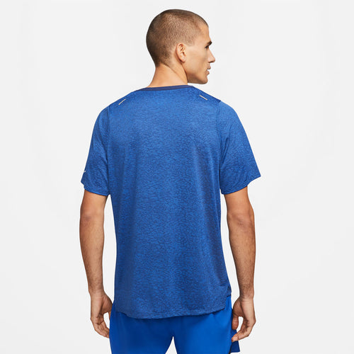 Men's Nike Rise 365 Run Division Short Sleeve Top - Midnight Navy/Game Royal/Reflective Silver