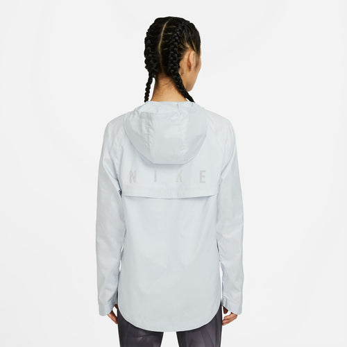 Women's Nike Essential Run Division Jacket - Pure Platinum/Reflective Silver