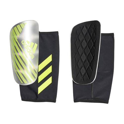 X Pro Shinguards - Silver Metallic / Solar Yellow / White