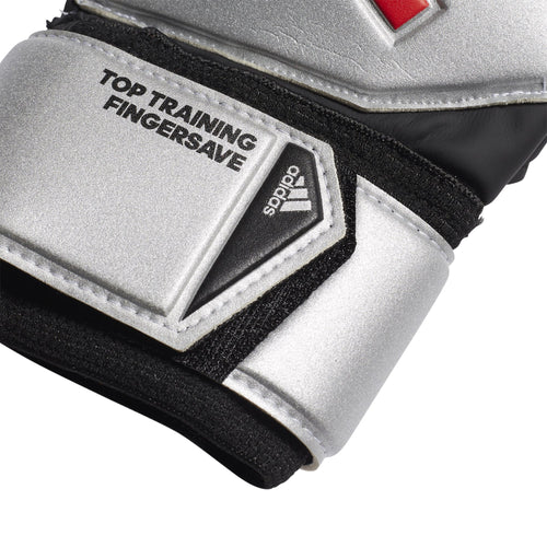 Predator Top Training Fingersave Goalkeeper Gloves - Silver Metallic/Black
