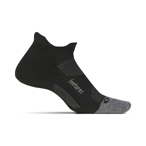 Unisex Elite Light Cushion No Show Tab Sock - Black