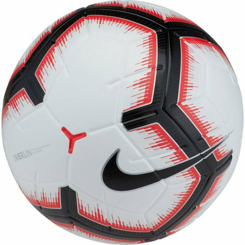 Merlin Official Match Ball - White/Bright Crimson/Black - 5