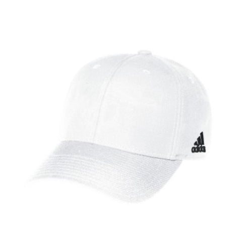 Unisex Structured Adjustable Cap - White