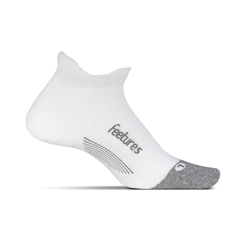 Unisex Elite Max Cushion No Show Tab Sock - White
