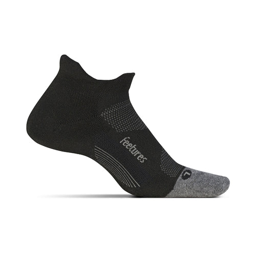 Unisex Elite Max Cushion No Show Tab Sock - Black