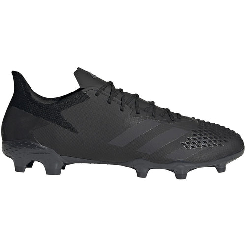 Predator 20.2 Unisex Firm Ground Soccer Shoes - Core Black/Core Black/Solid Grey