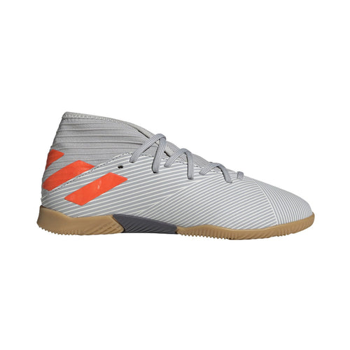 JR Nemeziz 19.3 Indoor Shoes - Grey Two / Solar Orange / Chalk White