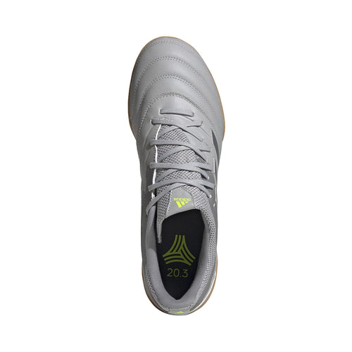 Men's Copa 20.3 Turf Shoes - Grey Two / Silver Metallic / Solar Yellow