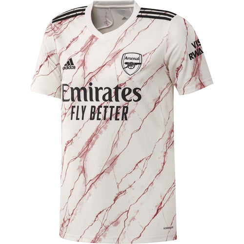 Arsenal 2020/21 Away Jersey - Cloud White/Black