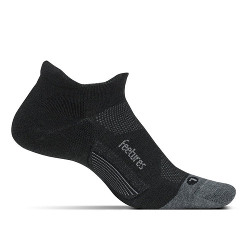 Unisex Merino 10 Cushion No Show Tab Sock - Charcoal