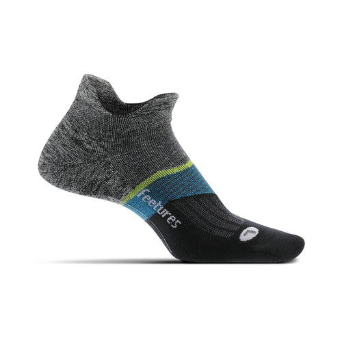 Unisex Elite Light Cushion No Show Sock - Backyard Grey