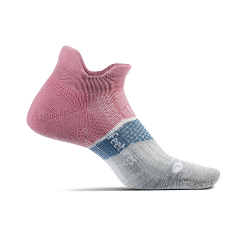 Women's Elite Light Cushion No Show Tab Sock - Heather Rose