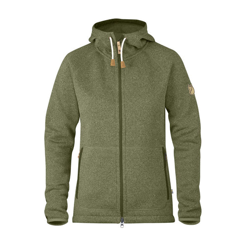 Women's Ovik Fleece Hoodie - GREEN