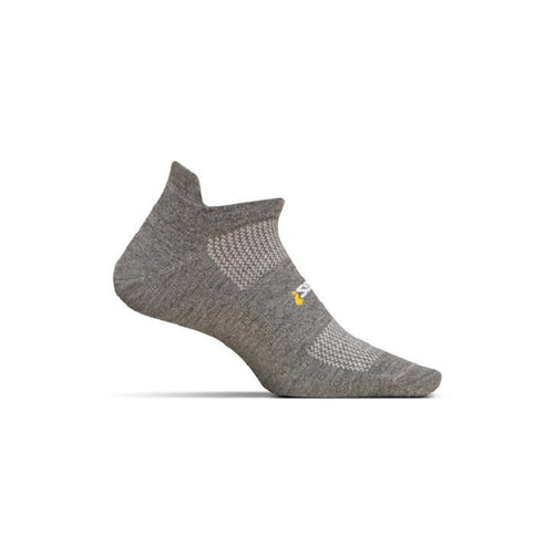 Unisex High Performance Ultra Light No Show Tab Sock - Heather Grey