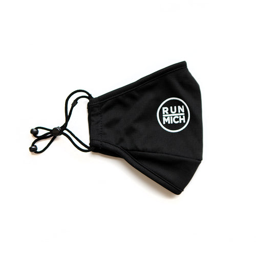 Unisex RUN MICH Premium Face Cover - Black