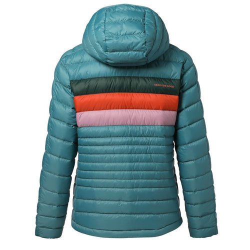 Women's Fuego Down Hooded Jacket - Submarine Stripes
