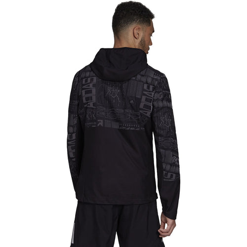Men's Own The Run Reflective Jacket - Black/Reflective Silver