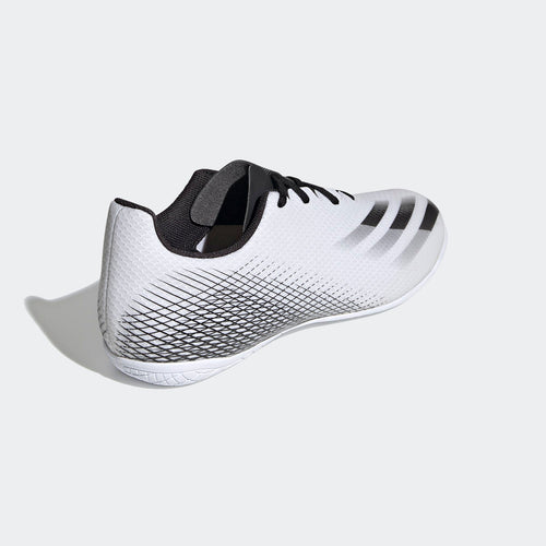 Unisex X Ghosted 4 Indoor Shoe - Cloud White/Core Black/Silver Metallic