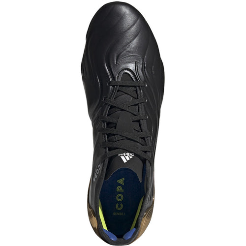 Unisex Copa Sense .1 Firm Ground Soccer Cleat - Core Black/Footwear White/Gold Metallic