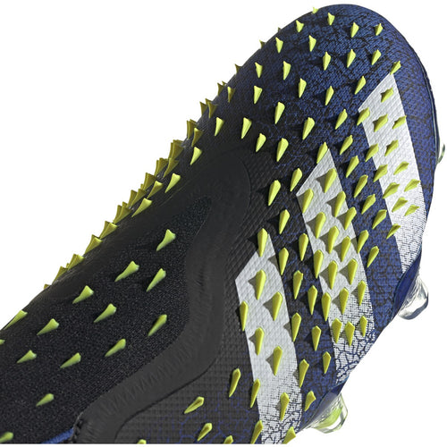 Predator Freak+ Unisex Firm Ground Soccer Shoes - Core Black/Cloud White/Solar Yellow