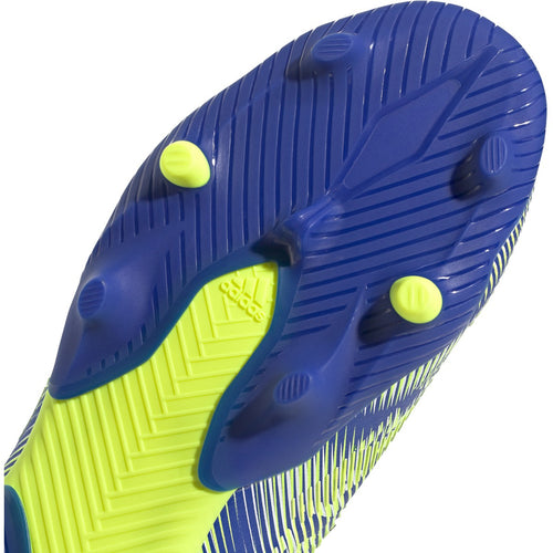 Junior Nemeziz .1 Firm Ground Soccer Shoe - Team Royal Blue/Solar Yellow/Core Black