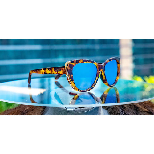 Fast As Shell Sunglasses - Brown/Print