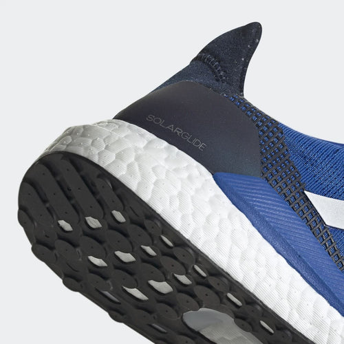 Men's Solar Glide 19 (2E - Wide) Running Shoe - Blue/Cloud White/Collegiate Navy