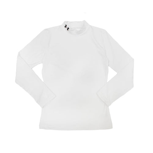 Youth Gameday ColdGear Mock Long Sleeve - White