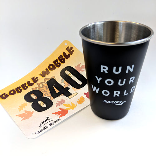 Run Your World Pint Stainless Steel Cup