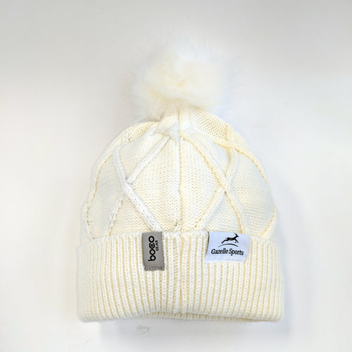 Women's RunXmitten Pom Beanie - White