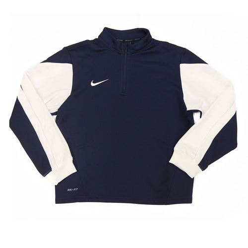 Youth Squad 14 Midlayer Top - Navy/White