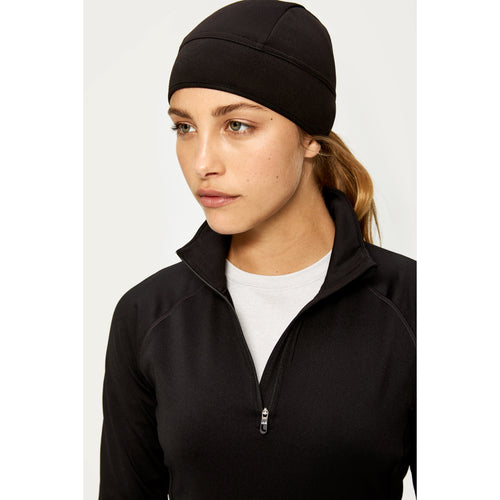 Women's Stretch Fleece Beanie - Black