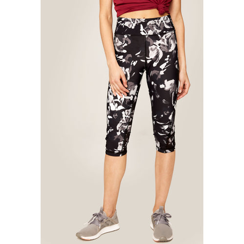Women's Burst Capri - Black Winter Bloom