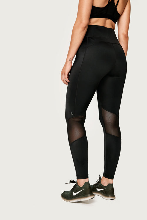 Women's Burst Ankle Legging - Black