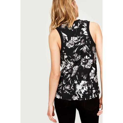 Women's Talulah Tank Top - Black Winter Bloom