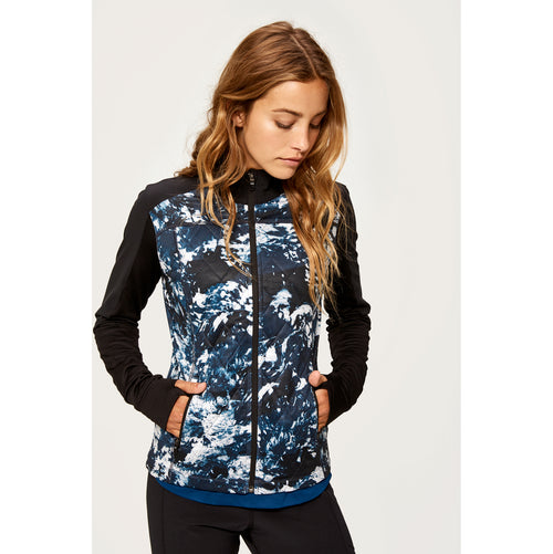 Women's Just Cardigan - MARINE OCEAN WAVE