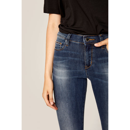 Women's Skinny Long Jeans - Marine Blue Denim