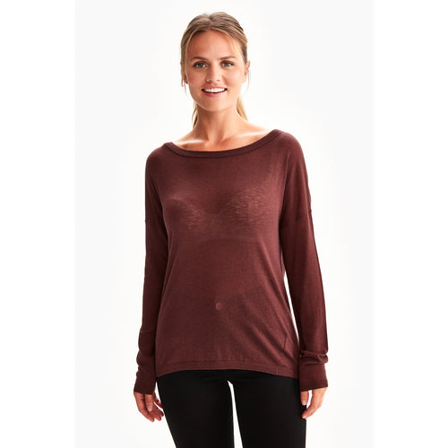 Women's Caelie Sweater-Burgundy