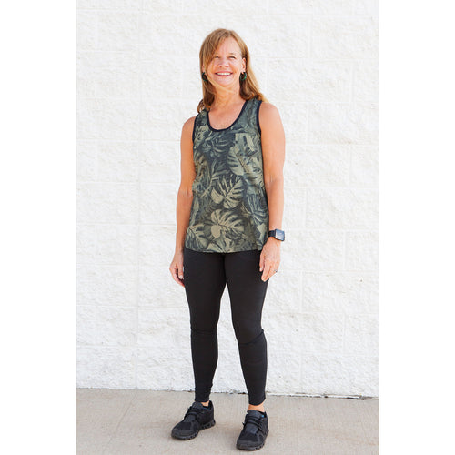 Women's Tribeca Tank Top - Rock Lichens Rainforest