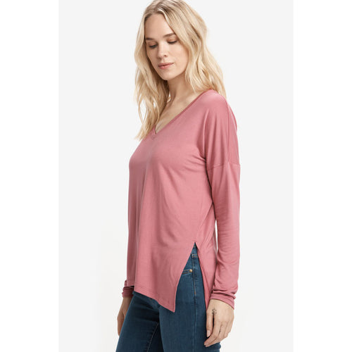 Women's Agda Long-Sleeve Top - Pink