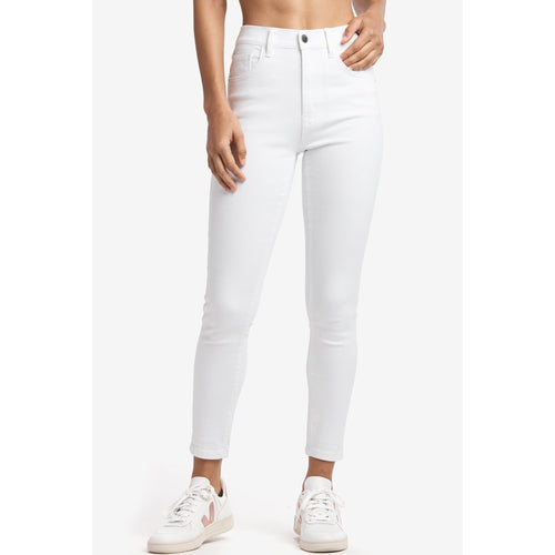 Women's Skinny 7/8 High Waist Denim Pants - White