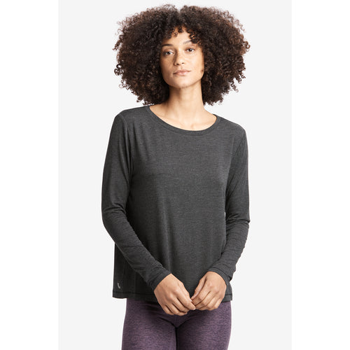 Women's Elisia Long Sleeved Top - Black Heather