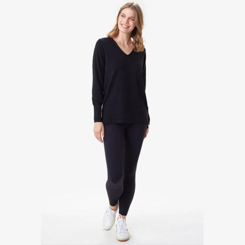 Women's Cozy Martha Top - Black