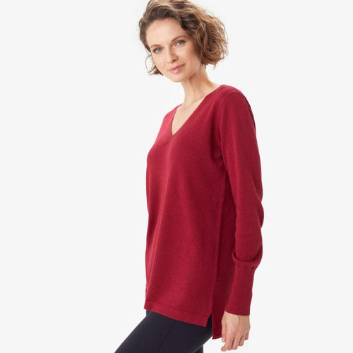 Women's Cozy Martha Top - Mahogany
