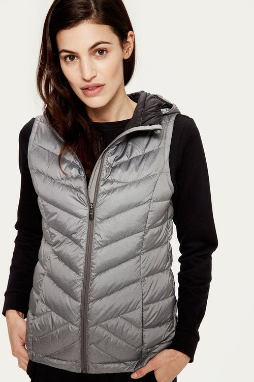 Women's Rose Vest--Medium Grey Heather