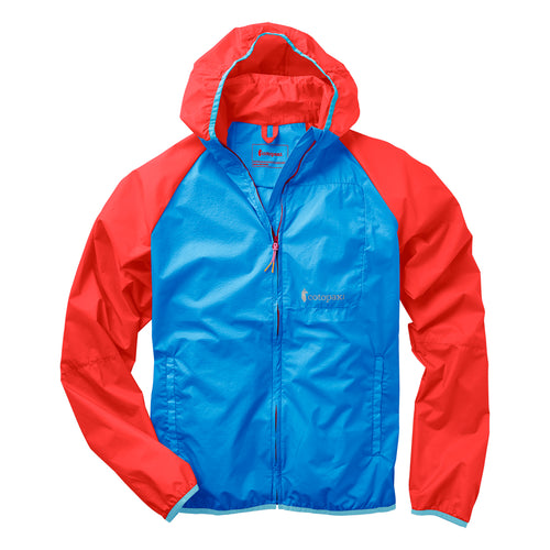 Men's Paray Lightweight Jacket - Sky/Fiery Red