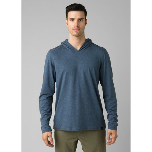 Men's Prana Hooded T-Shirt - Denim Heather