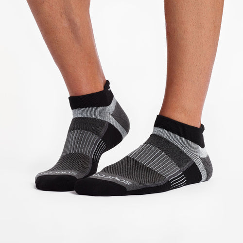 Unisex Inferno No Show Tab 3PK Socks - Black