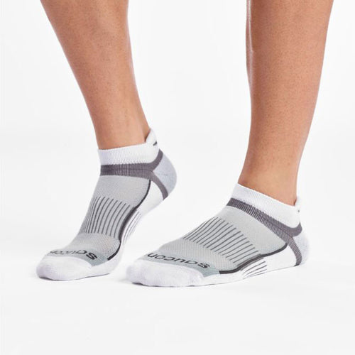 Unisex Inferno No Show Tab Socks 3PK - White